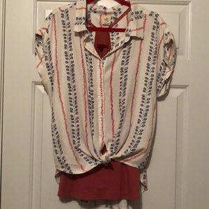 "d80b377e White Crow Tops - WHITE CROW ""Myrtle Button-Down Shirt"""